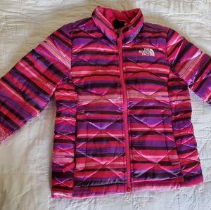 Pink puffer jacket XS/size 6